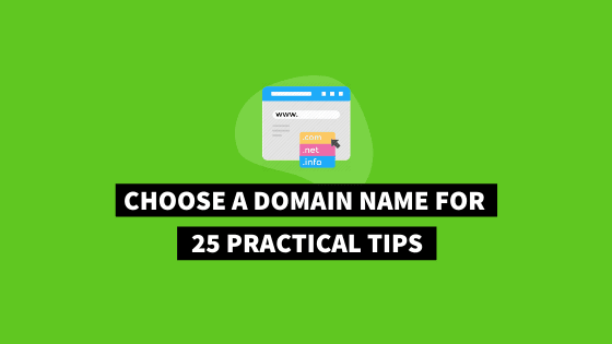 Tips on how to choose a domain name for your website or blog that's strong, SEO-friendly