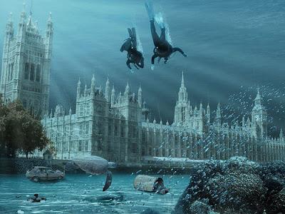 Ilustrasi London yang tenggelam