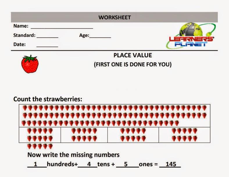 Place Value Worksheets place value worksheets grade 1 : Maths Place Value worksheet grade 1 math olympiad prepartions ...