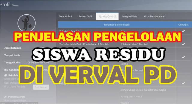 Penjelasan Lengkap Pengelolaan Residu Siswa di Verval PD