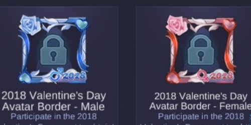 valentine avatar border