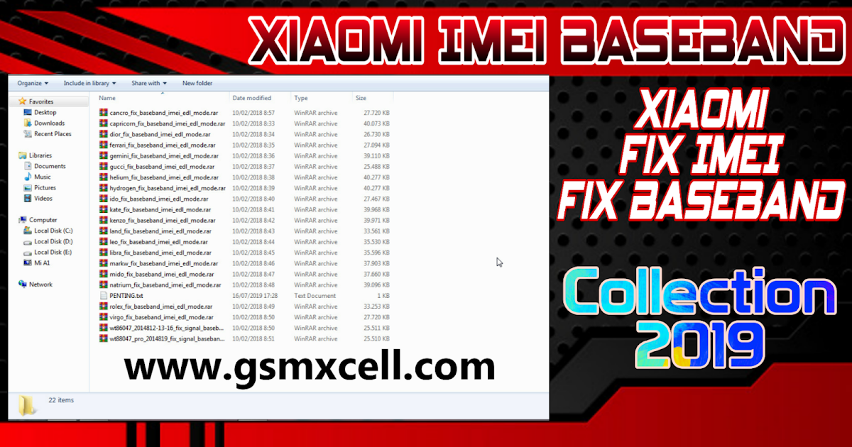 Xiaomi Imei Baseband Fix Collection 2019 - GSM-X Cell