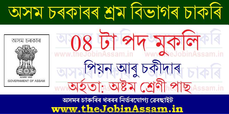 Commissionerate of Labour  Assam Recruitment 2021