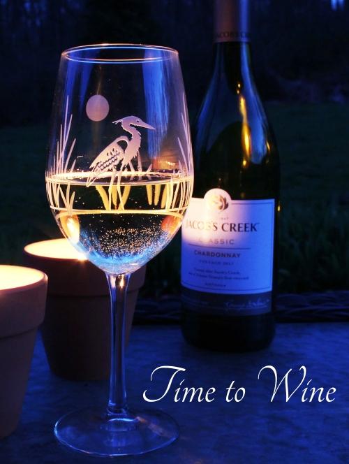 Coastal Wine Glasses Wine Quote