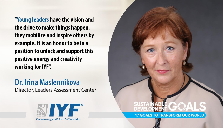 Irina Maslennikova, Director IYF Leaders Assessment Center