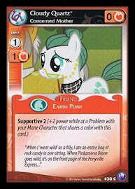 My Little Pony Cloudy Quartz, Concerned Mother Canterlot Nights CCG Card