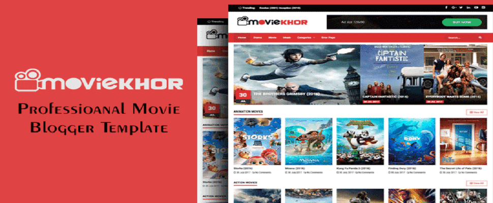 Download Free MovieKhor – Professional Movie Blogger Template