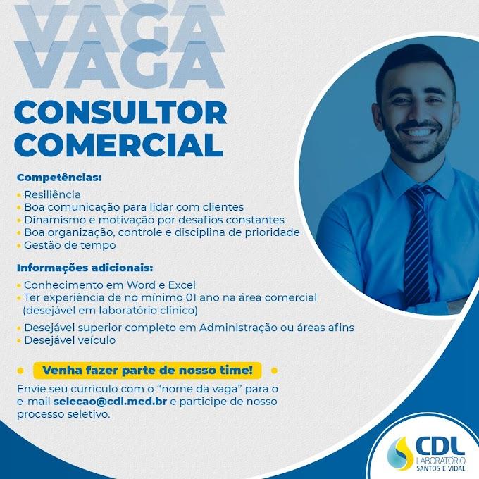 Vaga Consultor Comercial - Segmento Laboratório Clínico