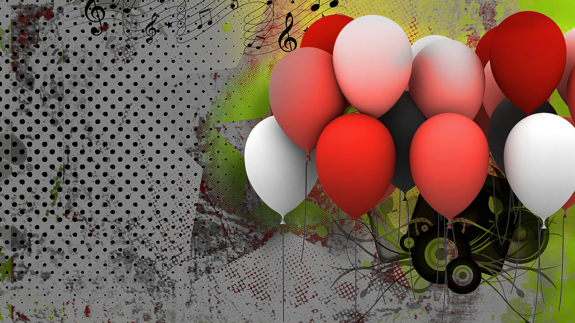 Cute balloons background download free