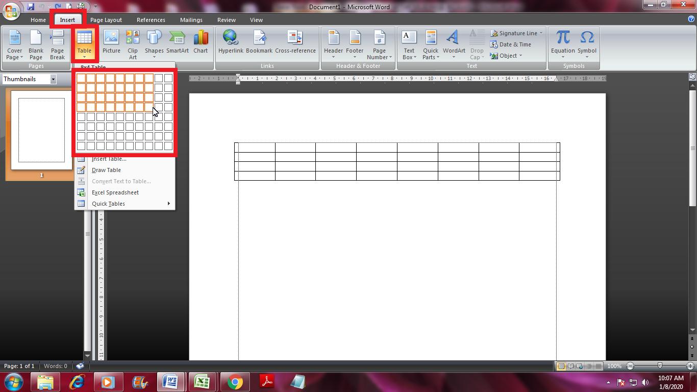 Cara Membuat 2 Tabel Berdampingan Di Microsoft Word Tutorial Microsoft Office