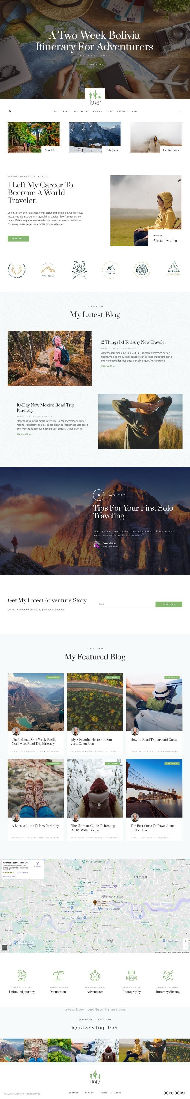 Travel Blog Template Kit