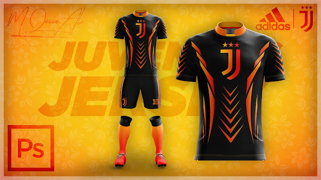 Adidas's Juventus Cool Concept Jersey Design in Photoshop cc 2019 by M Qasim Ali