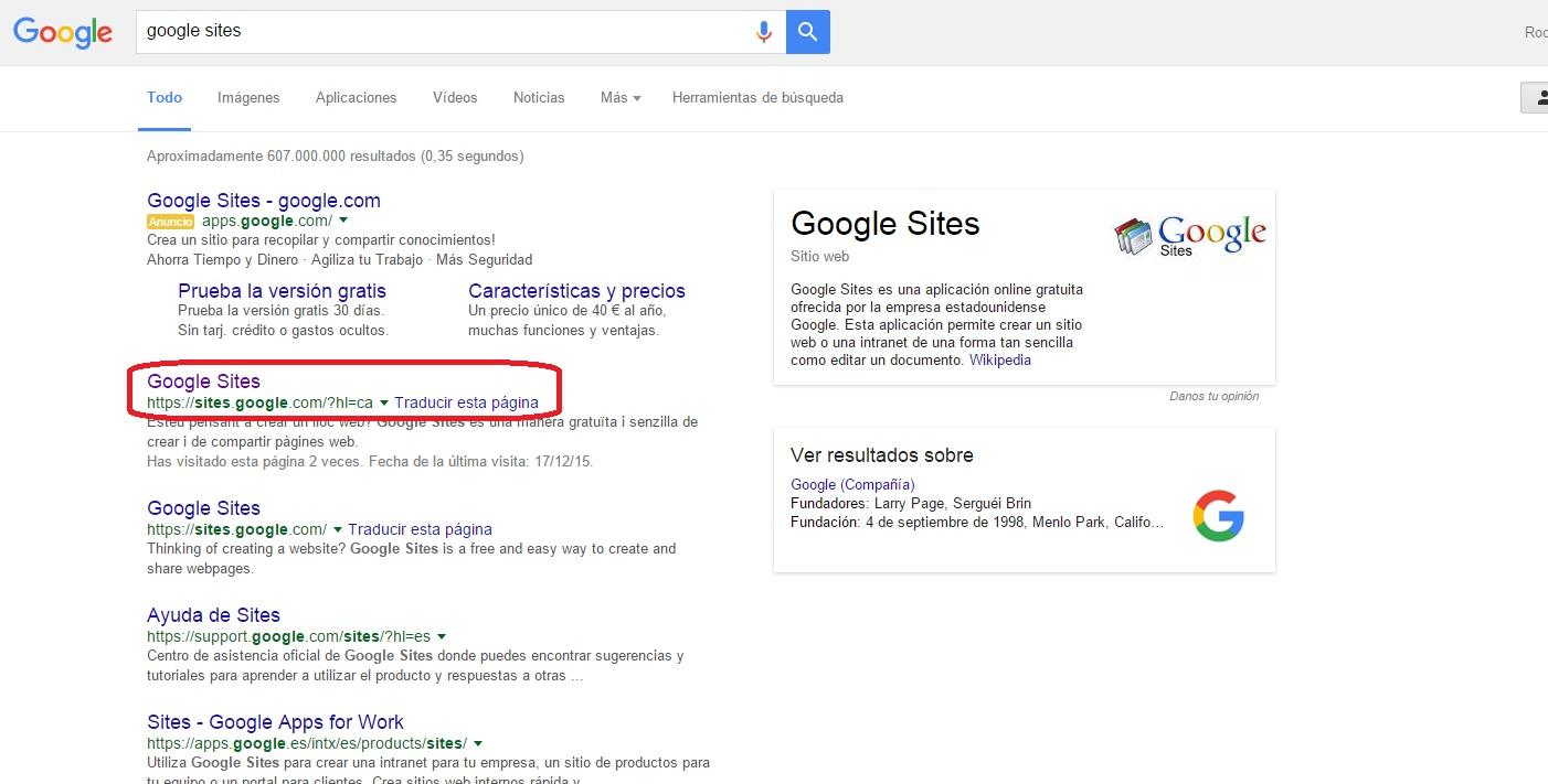 Tic En El Aula Google Sites Webquest