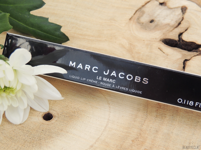 avis marc jacobs le marc liquid lip creme  packaging