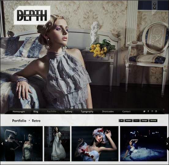 Depth Fullscreen Ajax Portfolio WordPress Theme
