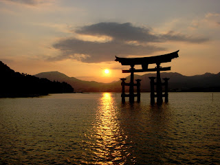 Japanese Wallpapers Itsukushima Torii Gate Special Domo Kun