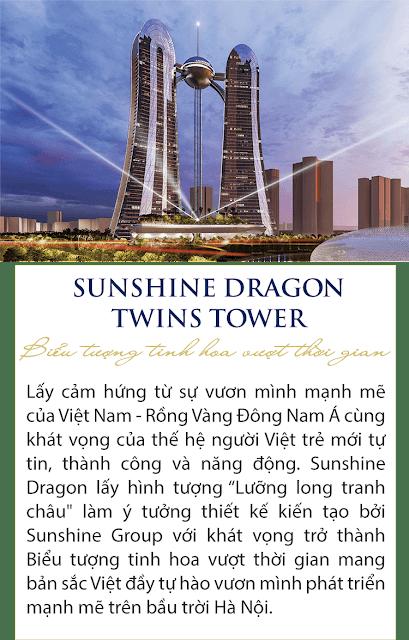 Dự án Sunshine Dragon Twins Tower Tây Hồ Hà Nội, Tin dự án Sunshine Empire Ciputra 88 tầng Hà Nội Tower Sky Villas khu đô thị Ciputra Phạm Văn Đồng,