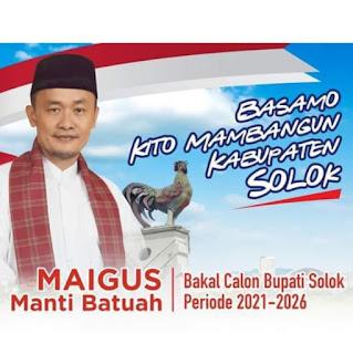 Maigus Tinus, Magnet Besar di Bursa Pilkada Kabupaten Solok 2020