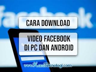Cara Download Video Facebook Lite di PC dan Android Terbaru