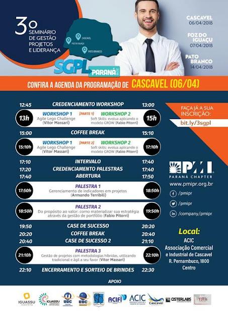 http://pmipr.org.br/site/evento/visualizar/id/46/?3o-seminario-de-gestao-projetos-e-lideranca-do-oeste-do-parana.html