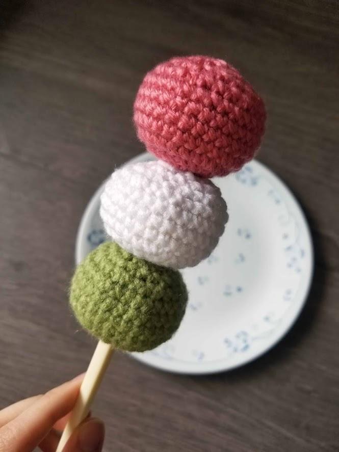 Japanese Hanami Dango Amigurumi Food FREE Crochet Pattern