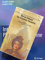 Bleak House, by Charles Dickens, superimposed on Intermediate Physics for Medicine and Biology.