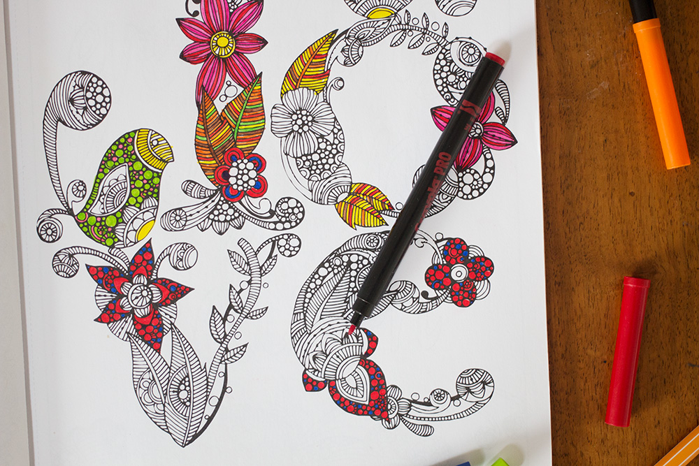 creative colouring inspirations by valentina harper