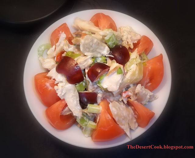 Tomato Stuffed with Chicken Salad photo by Candy Dorsey