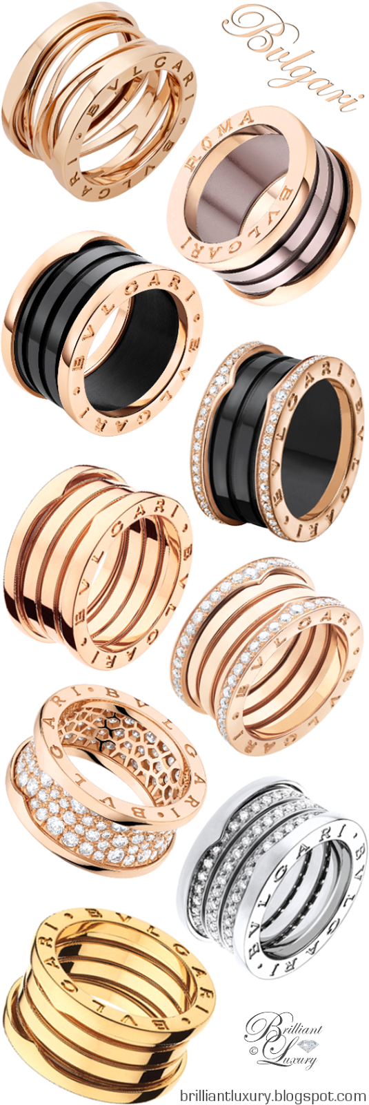 Brilliant Luxury ♦ Bvlgari B.Zero1 Rings UDATED