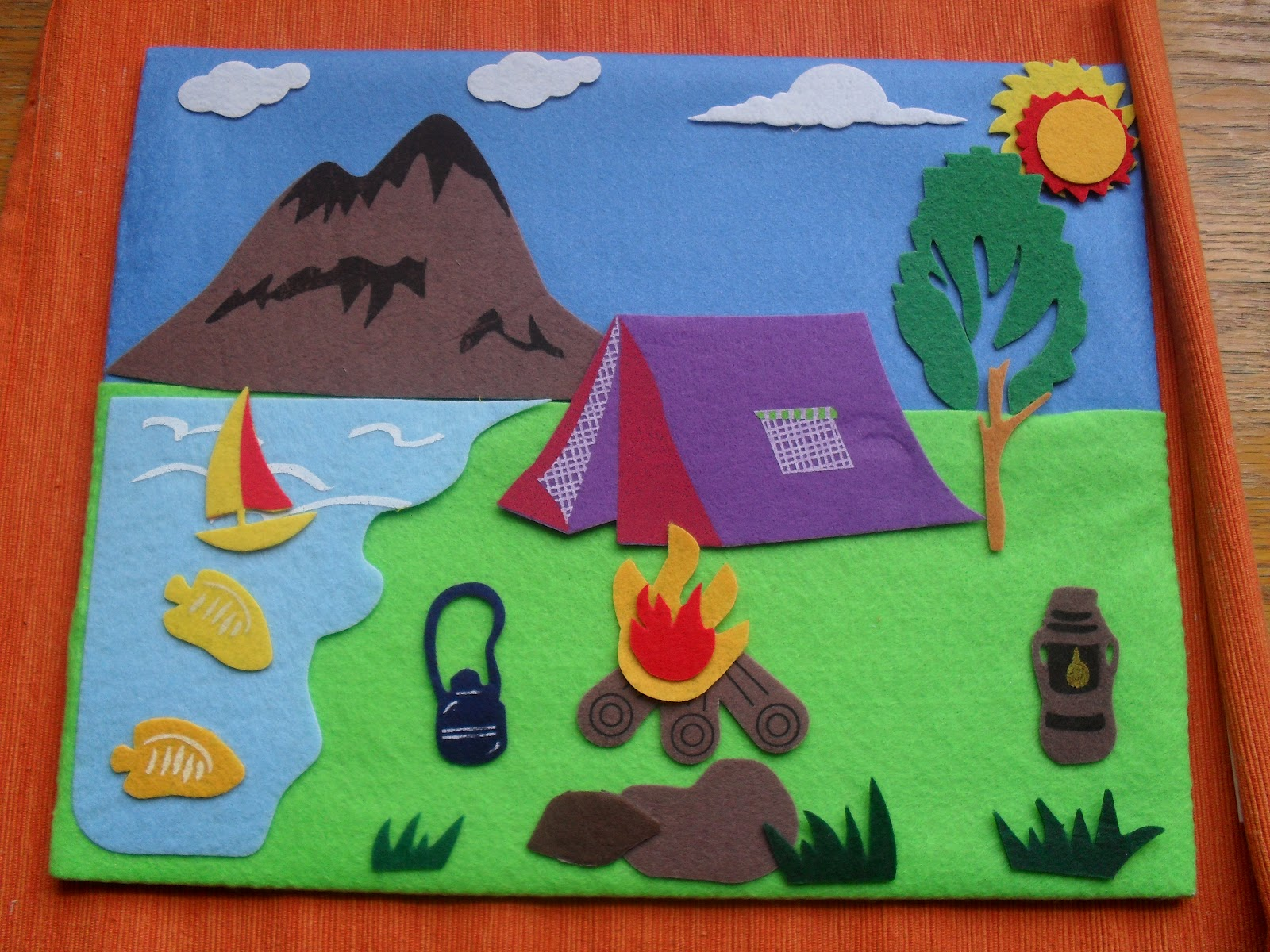 A Muslim Child Is Born Felt Story Board Camping