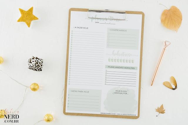 Segundo modelo de planner diário