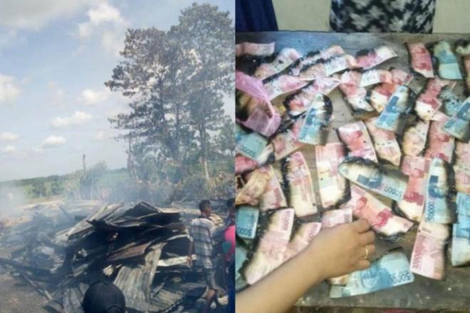 2 rumah terbakar di Kecamatan Ajangale, Rabu, 3 Maret 2021.
