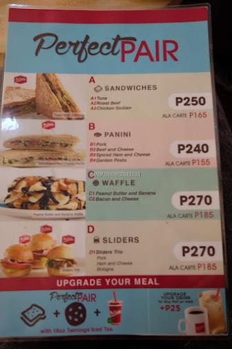 mrs fields cafe menu