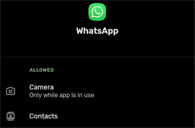 انتقل إلى أذونات التطبيق في إعدادات Android