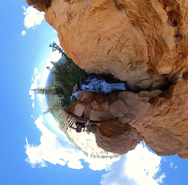 Tiny Planet Cascade Falls - Dixie National Forest