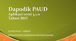 Dapodik PAUD Versi 3.1.0 Tahun Pelajaran 2017/2018