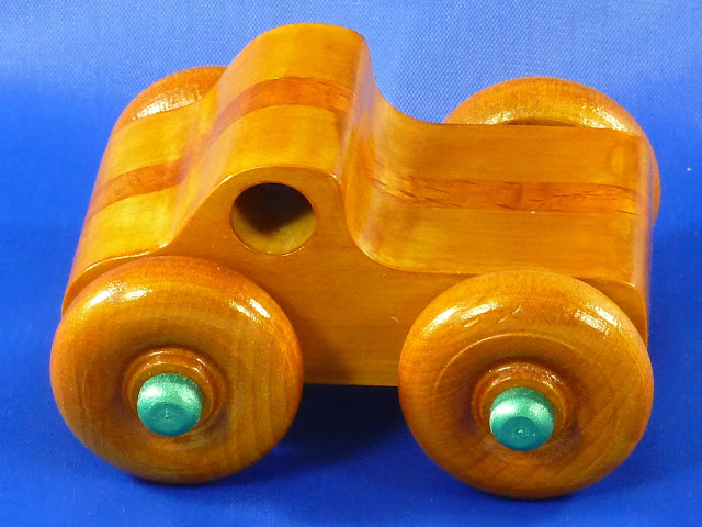 Handmade Wood Toy Monster Truck, Based on the Play Pal Series Pickup Truc