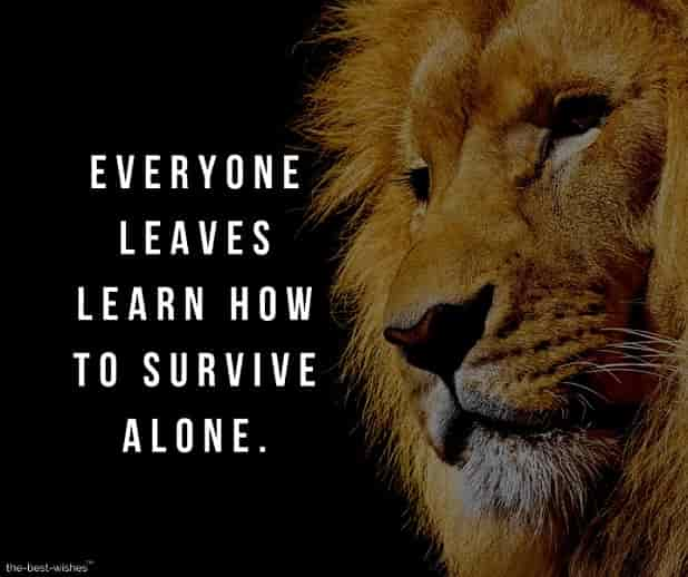everyone leaves learn how to survive alone