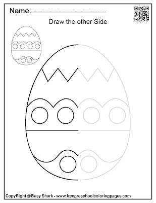 spring Easter symmetry draw the other half activity for kids,free printable preschool coloring pages,sun,tree,bunny,easter egg,flower,ladybug,butterfly,chick