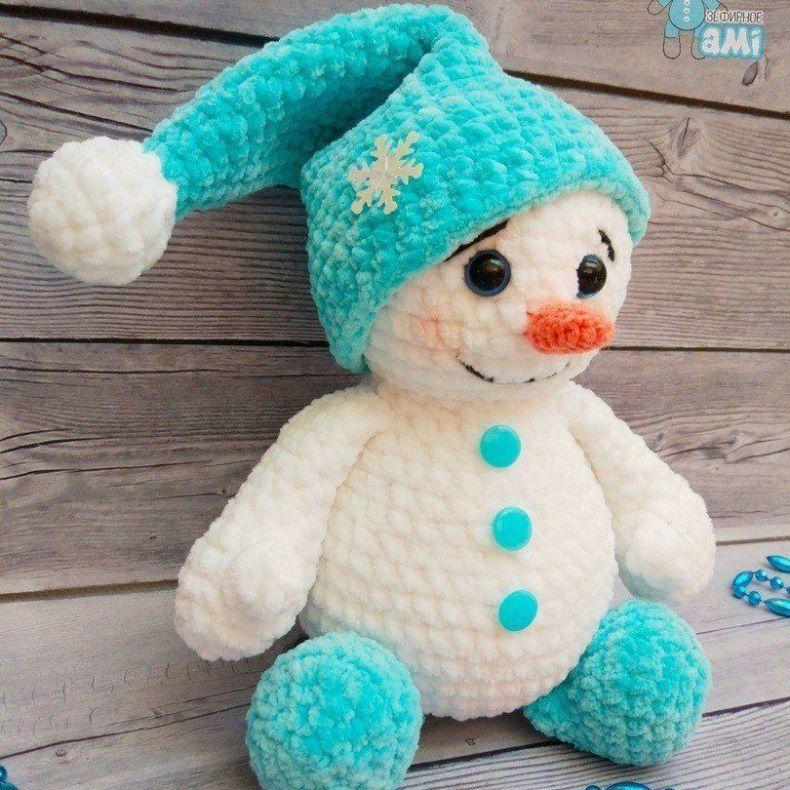 1000 схем амигуруми на русском: Плюшевый снеговик