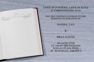 Undangan Pernikahan Kristen Bahasa Inggris