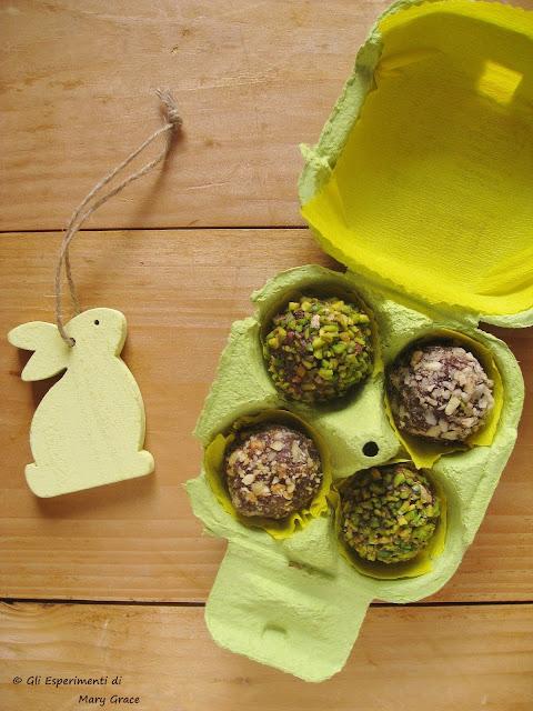 Tartufi al Cioccolato e Frutta secca