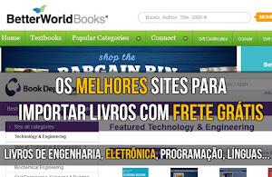 Os melhores sites para importar livros com frete grátis.