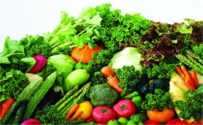 Các loại rau quả tươi giàu chất xơ