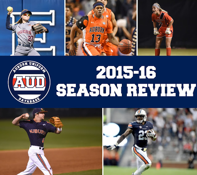 Auburn baseball, basketball, softball, soccer, football uniforms