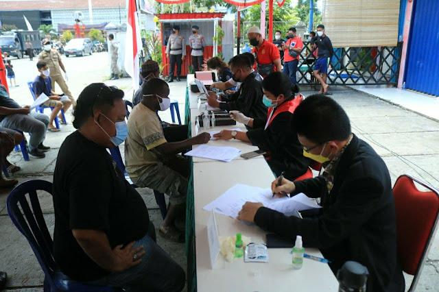 71 Orang Sidang Ditempat dalam Operasi Yustisi di Taman Imbi Jayapura
