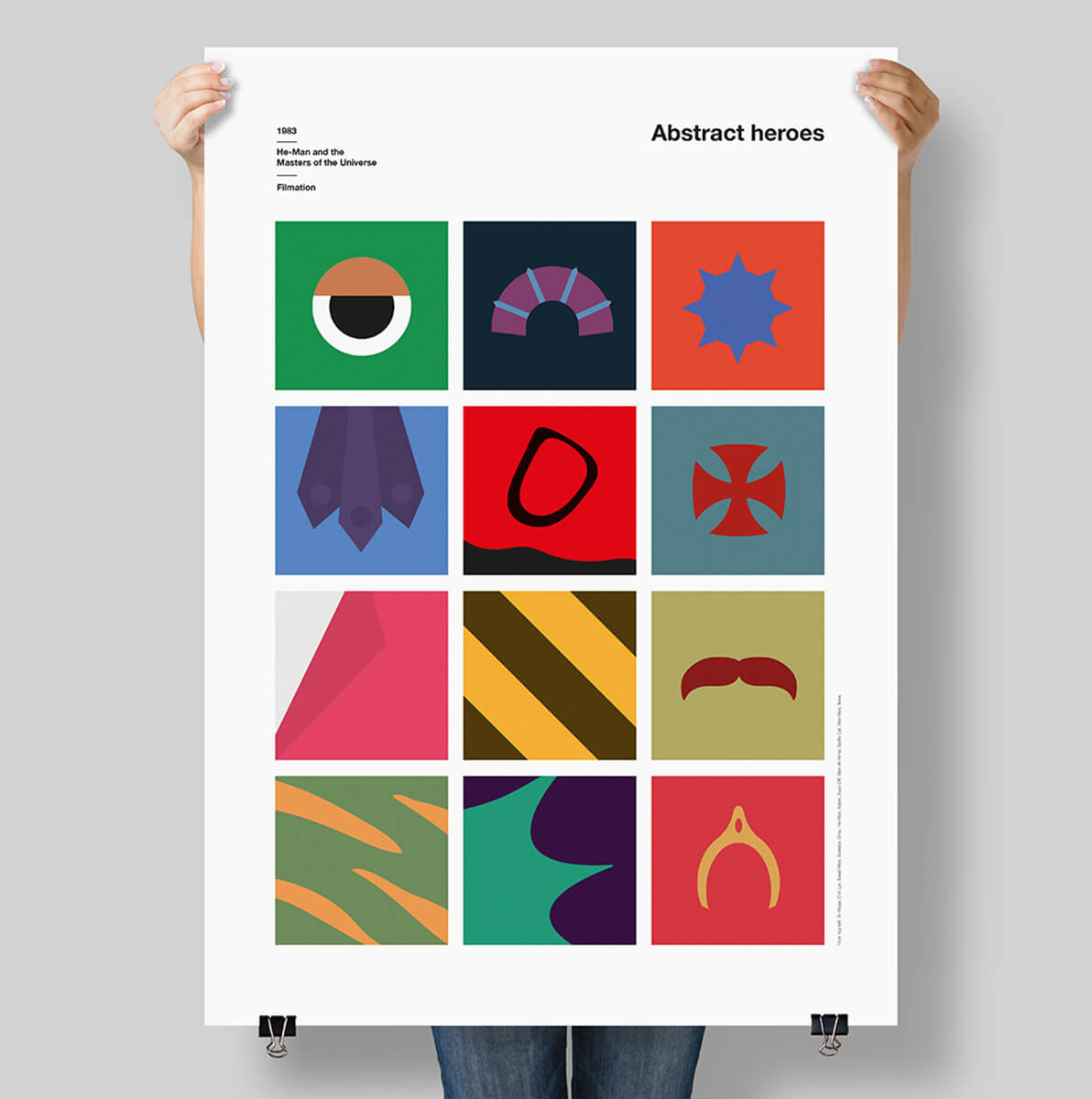 He-Man Abstract Print
