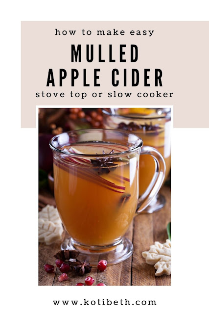 How to make easy mulled apple cider in a crock pot or stove top. This hot crockpot recipe is the perfect fall drink for a crowd. Make it spiked with alcohol or nonalcoholic. This warm mulled cider recipe easy in a slow cooker.  Try this for drink ideas for your next fall party. #applecider #apple #mulled #mulledcider #slowcooker