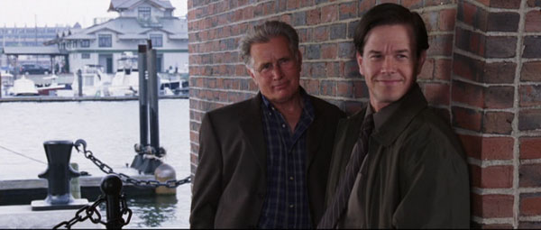Mark Wahlberg and Martin Sheen in The Departed