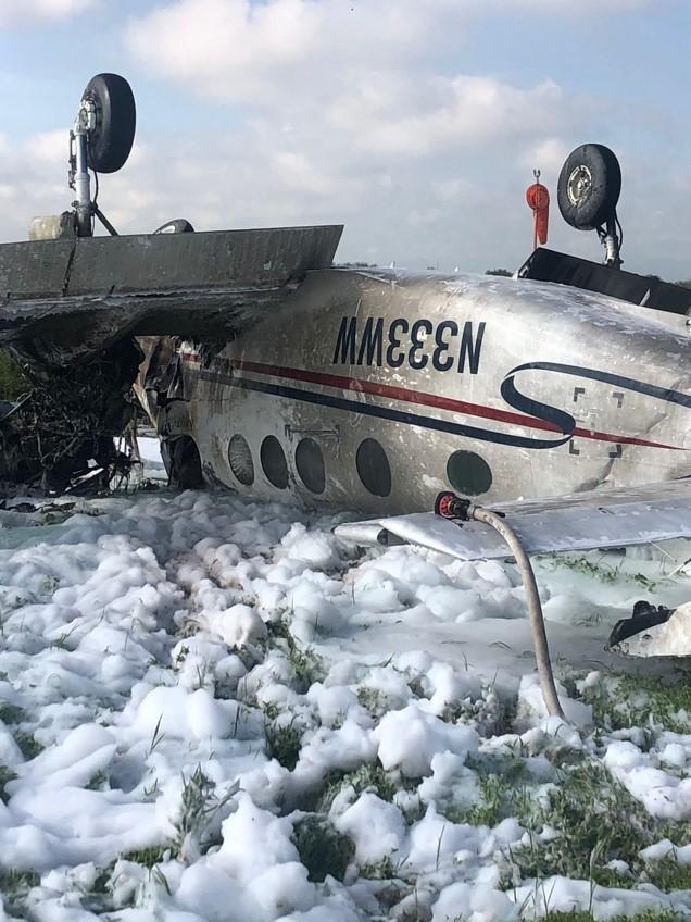 SE ACCIDENTA AERONAVE EN LAS INMEDIACIONES DEL AEROPUERTO  INTERNACIONAL GUADALUPE VICTORIA: AFAC